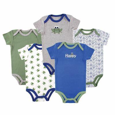Luvable Friends Boy Bodysuits, Frog 5-Pack