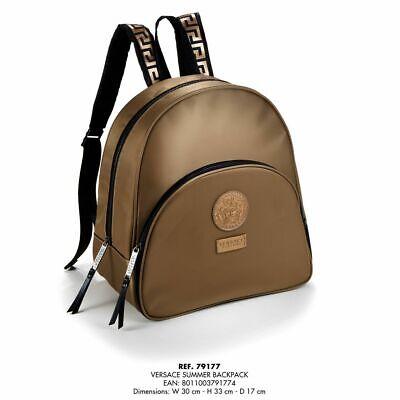 Versace Gold Luxury Medusa Design Backpack / Rucksack NEW GENUINE
