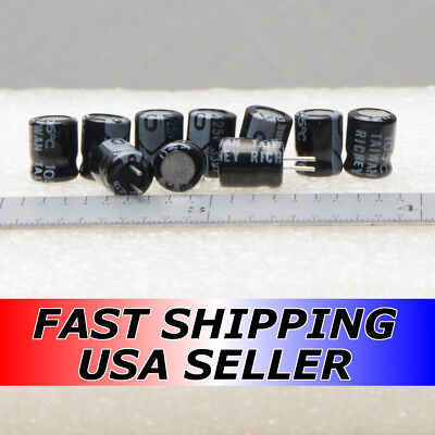 10pcs 33uf 25v 105c Richey Hsm Electrolytic Low Esr Capacitors Fast Usa Shipping