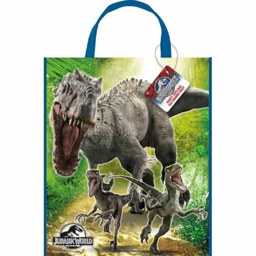 "Large Plastic Jurassic World Favor Bag, 13"" x 11"