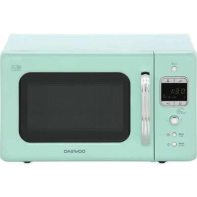Daewoo KOR7LBKM Retro Style 800 Watt Microwave Free Standing Mint New from AO