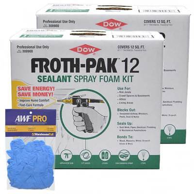 Dow Froth Pak 12 Spray Foam Sealant Kit 12 Board Feetkit - 2 Complete Kits