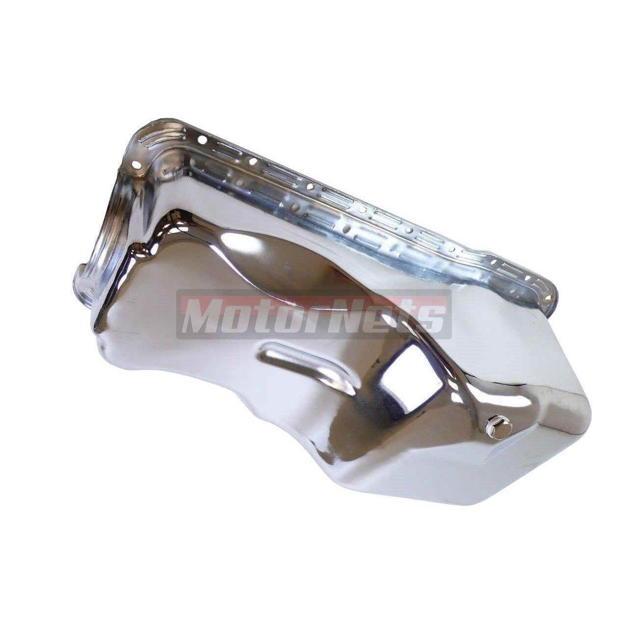 Chrome Dual Sump Oil Pan Stock Capacity 83-93 Ford 5.0 Mustang 302 SBF