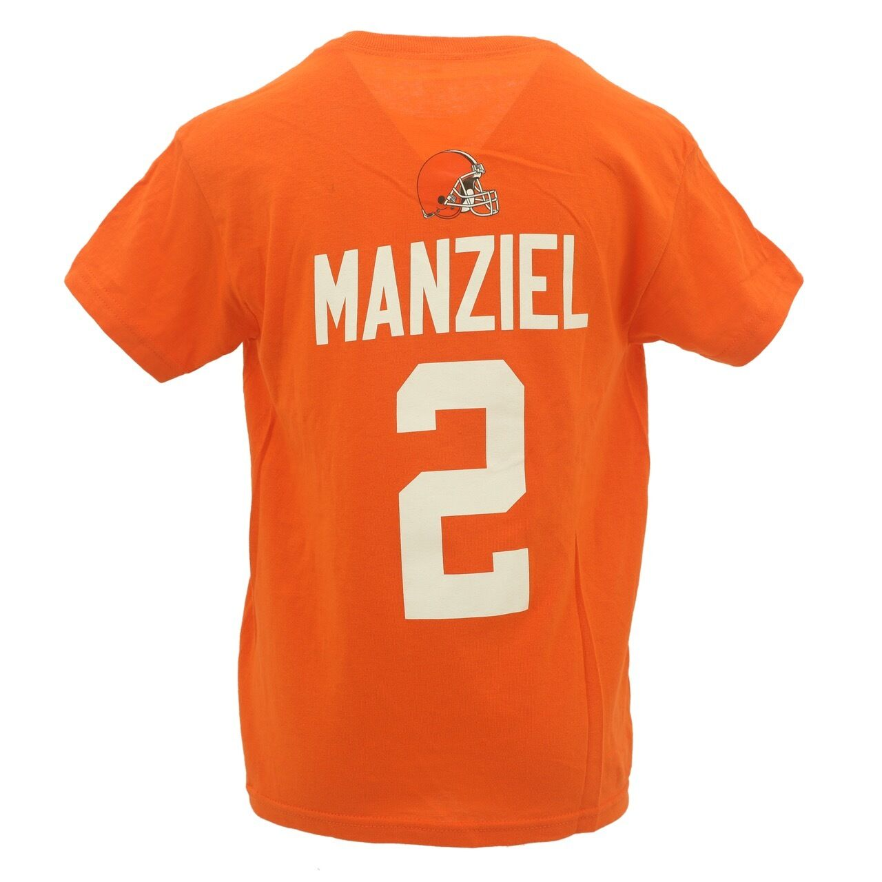 10053a74 Details about NFL Youth Size Johnny Manziel Cleveland Browns Official NFL  Fan Apparel T-Shirt
