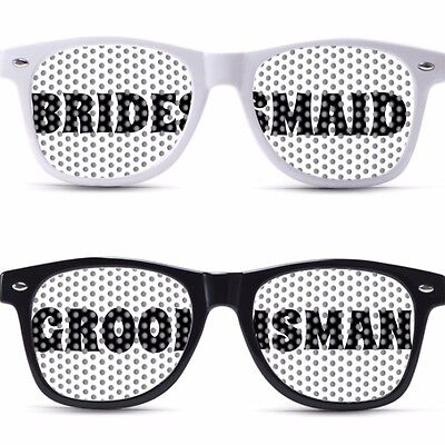 BRAIDSMAID GROOMSMAN CUSTOM SUNGLASSES WEDDING NERDY SEXY PARTY FAVOR