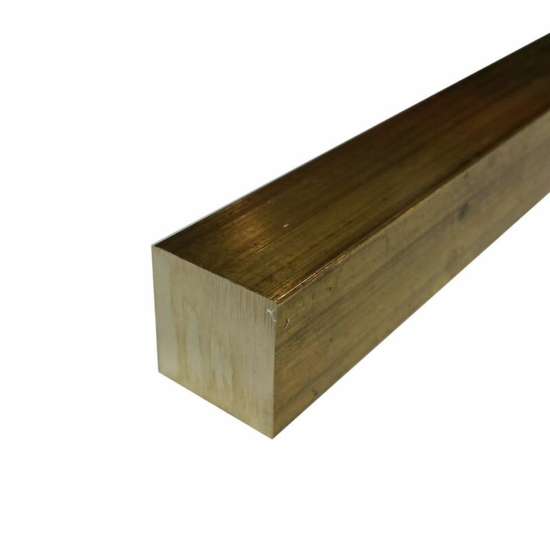 "C360 Brass Square Bar, 1/4"" x 1/4"" x 48"""