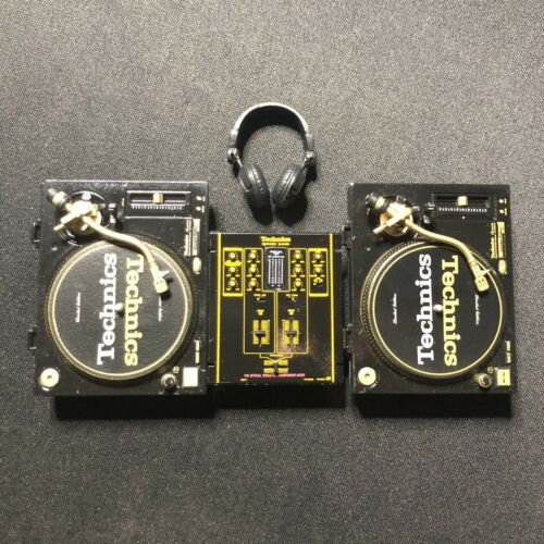 Technics Miniature Collection SL-1200GLD  Turntable Audio Mixer Hip-Hop DJ set