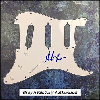 GFA Jethro Tull Guitarist * MARTIN BARRE * Signed Electric Pickguard PROOF COA