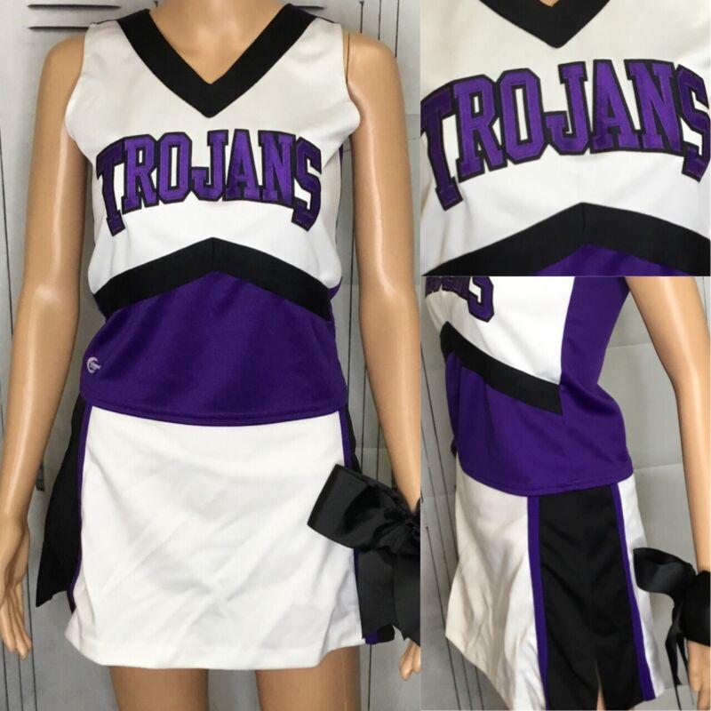"Real Cheerleading Uniform Trojans Top 36""Skirt 28"""
