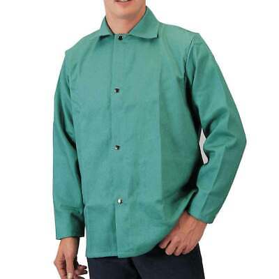 Tillman 6230 30 9 Oz. Green Fr Cotton Welding Jacket Medium