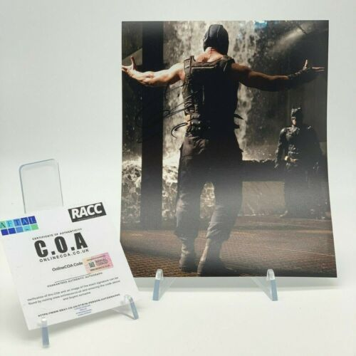 TOM HARDY Signed 10x8 Photo BATMAN DARK KNIGHT RETURNS BANE AFTAL OnlineCOA