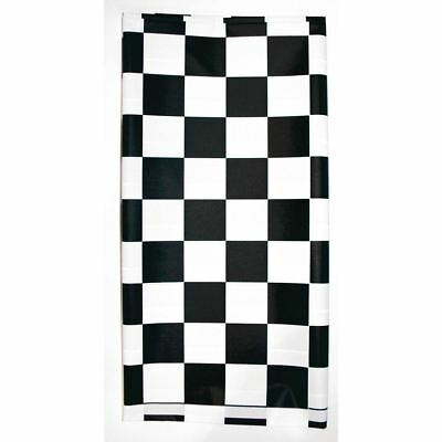 Stay Put Plastic Tablecover Black White Check 29 x 72 Banquet Wind Proof Stayput](Stay Put Table Cover)