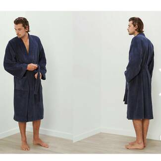 Sheridan mens XL Blue Quick Dry Bathrobe