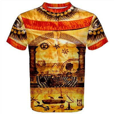 18th Century Shirts (Royal Arch Satin Apron Masonic T-Shirt Freemason 18th century design)