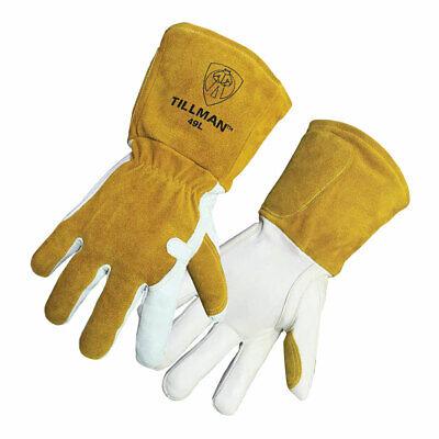 Tillman 49 Mig Welder Gloves Insulated Grain Goatskincowhide Split Large