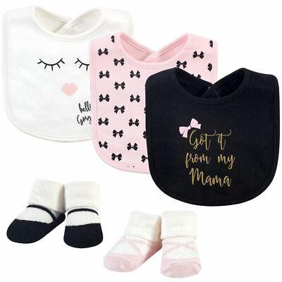 Little Treasure Girl Bib and Sock 5-Piece Set, Mama