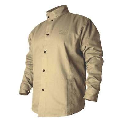 Black Stallion Bxtn9c Bsx Flame-resistant Cotton Welding Jacket Khaki Medium
