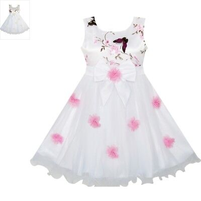 Sunny Fashion Flower Girls Dress Butterfly Wedding Pageant Bridesmaid Size 4-10 ()