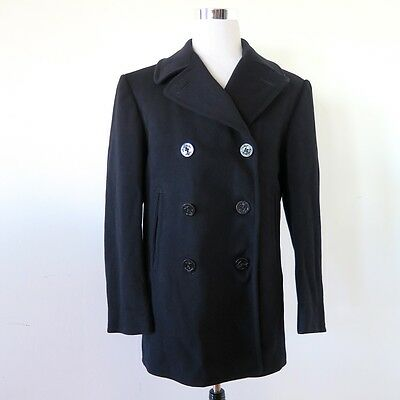VINTAGE ORIGINAL 1940's USN US NAVY PEA COAT SIZE 40 CLOTHING SUPPY DEPOT