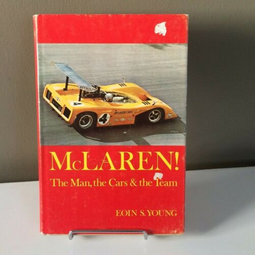 McLAREN The Man, the Cars & the Team Book - SIGNED by Eoin Young   Can-Am Racing