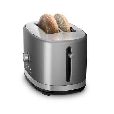 KitchenAid Refurbished 2-Slice Long Slot Toaster | Contour Silver