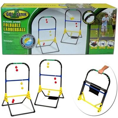 Portable Outdoor Ladder Ball Toss Game Set Tailgate Lawn Camping Sport Target WL (Ladderball Game)