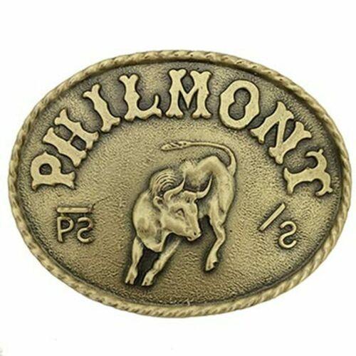 Philmont Scout Ranch Bronze Oval Bull Belt Buckle - Boy Scouts of America