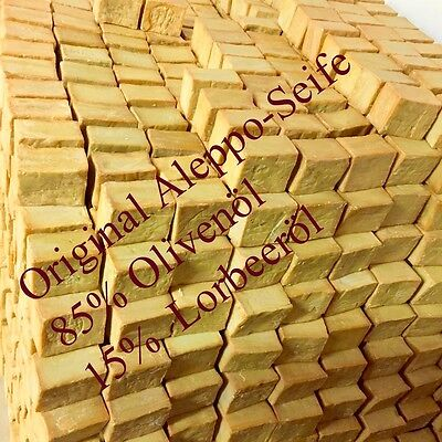 6 Stück Original  Alepposeife, 85% Olivenöl+15% Lorbeeröl , Neu
