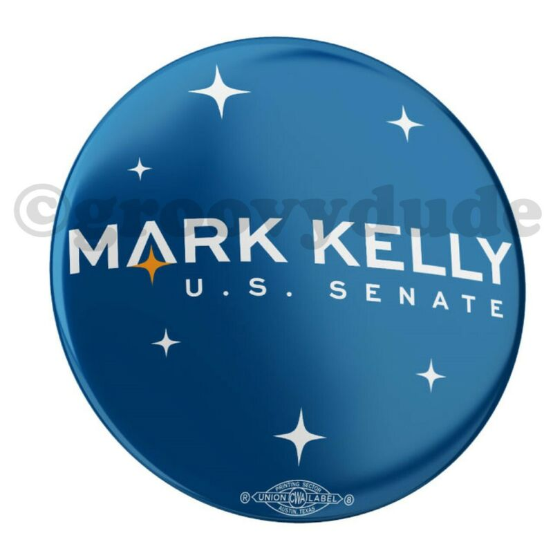 "Official Mark Kelly For Senate 2020 Arizona 2-1/4"" Campaign Pin Pinback Button"