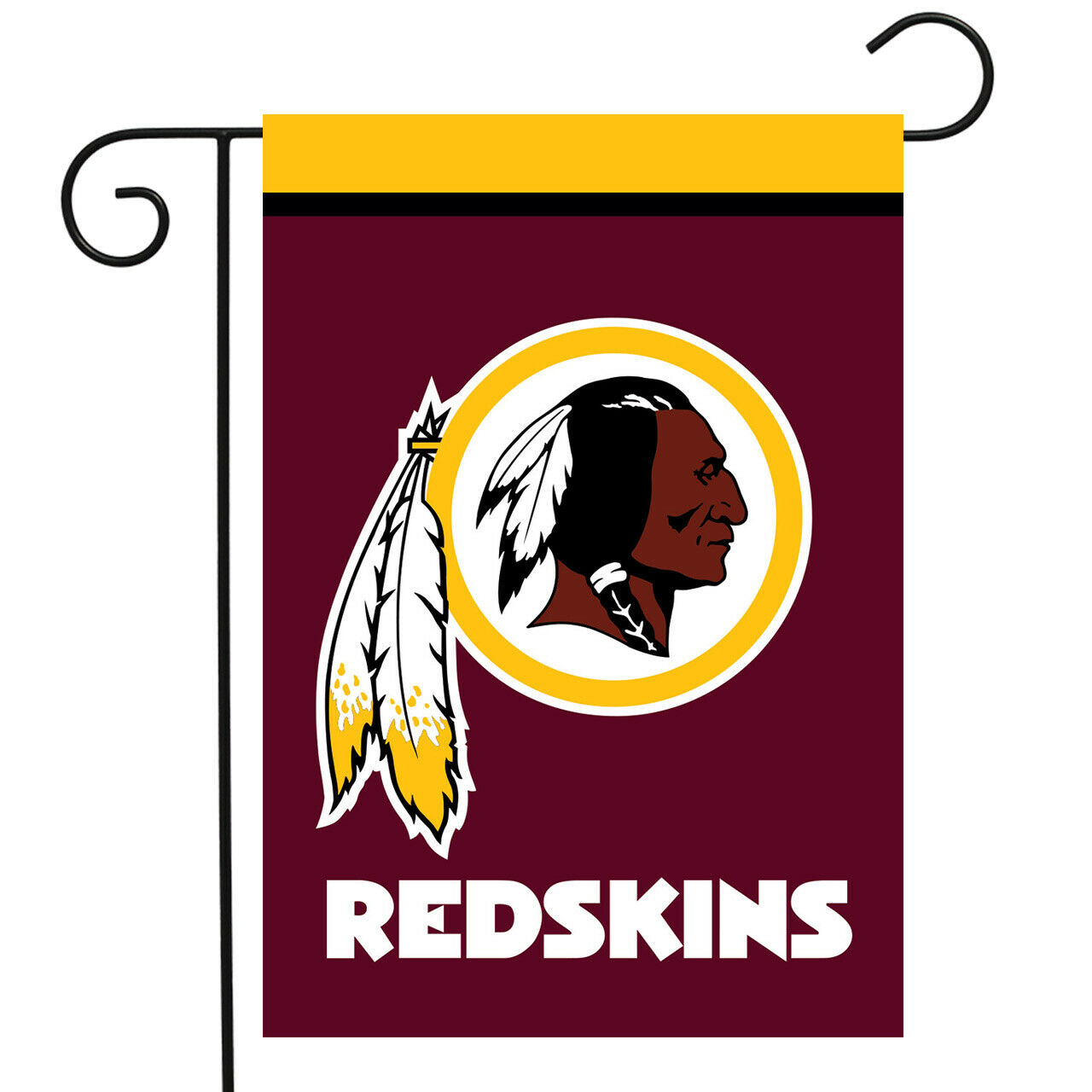 "WASHINGTON REDSKINS GARDEN FLAG 12.5"" BY 18"" FREE SHIPPING B"