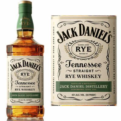 Jack Daniels Straight Rye Whiskey aus USA  45 % Vol./ 0, 7 Liter