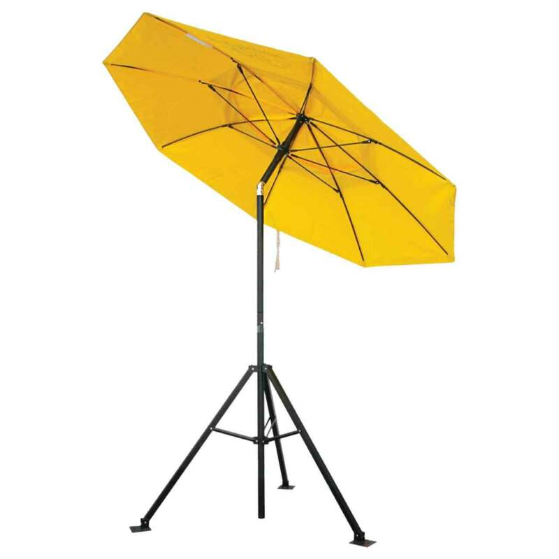 Black Stallion UB150 FR Industrial Umbrella and Tripod Stand Combo
