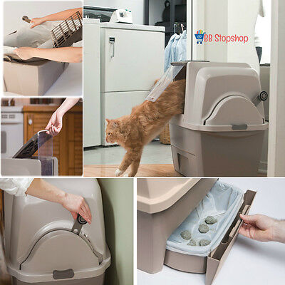 Auto Cat Litter Box Self Cleaning Automatic Scoops Covered Pan Lid Eco Clean