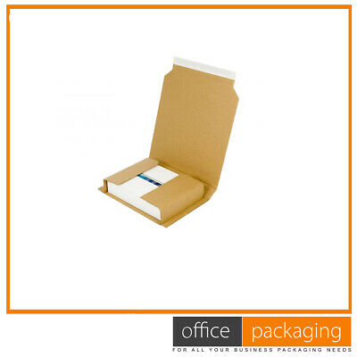Book Wrap Mailer Postal Cardboard Boxes Strong Lightweight 280x205x70mm 400 Pcs