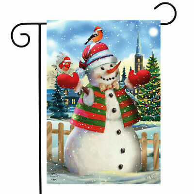 ITS SNOWING SNOWMAN BIRD WINTER CHRISTMAS TOWN TREE MINI WINDOW GARDEN YARD FLAG