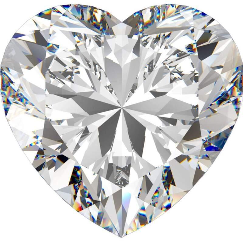 2.07 CT. Genuine Heart Shape Diamond. Certified by EGL-USA