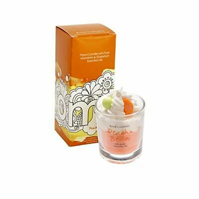 Bomb Cosmetics Peach Belini Piped Glass Candle