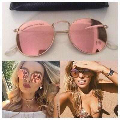 Sonnenbrille Round Metal Rund Damen So Real Rosagold Verspiegelt
