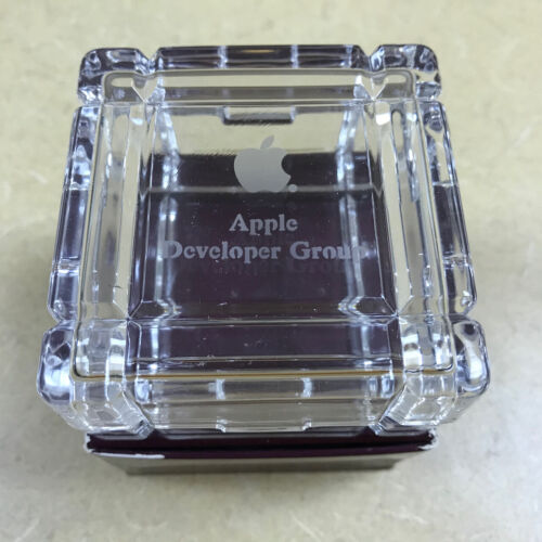 Apple Computer Developer Group - IN ORIGINAL BOX!!! -- RARE - Etched Glass Box