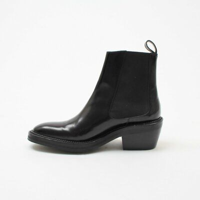 Yang Li Smooth Leather Chelsea Boots Size 40