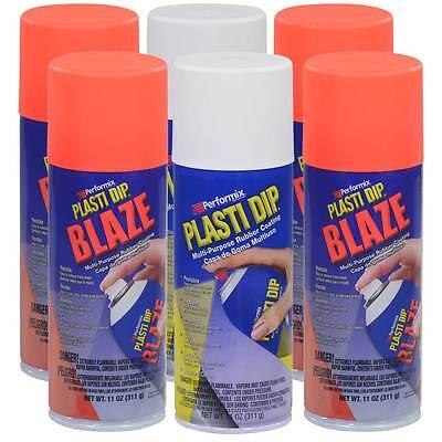Plasti Dip Blaze Spray Kit 4 Cans Safety Cone Orange 2 Cans White