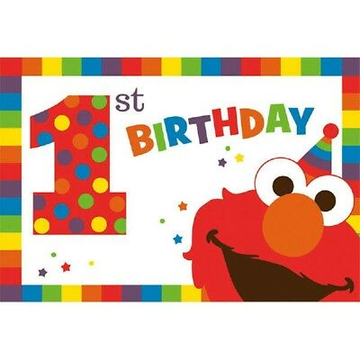 Elmo Turns One 8 Postcard Invitations 1st Birthday Party Sesame Street