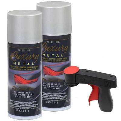Plasti Dip Luxury Metal Spray Satin White Aluminum 2 Cans Cangun1 Trigger