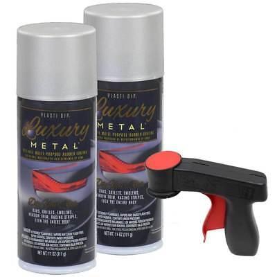 Plasti Dip Luxury Metal Spray Satin White Aluminum 2 Cans Cangun1 Trigger