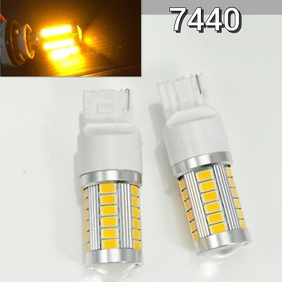 Rear Turn Signal T20 7440 7441 992 33 samsung LED Amber Bulb W1 For Buick GM JAE