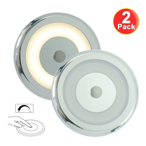 2pk Adjustable Touch Dimmer Ceiling LED Light 3W Warm White Interior Lamp Yachts