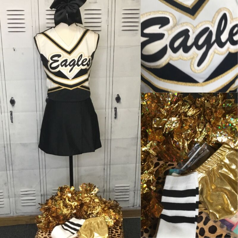 Real Cheerleading Uniform Adult XS Eagles 7pc