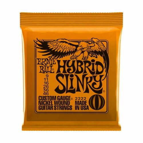 Ernie Ball Hybrid Slinky Electric Guitar Strings, 9-46