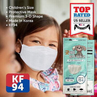 10 Pack Kf94 White Protective Safety Face Mask Kids Children Youth Korean Pkg