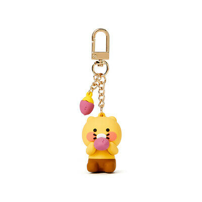 KAKAO FRIENDS CHOONSIK Figure Keyring for Mobile Bag Pouch Cute Official Goods